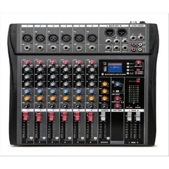 SINEXTESIS CT-60S Mixer 6 canali (reali) MP3 USB Bluetooth con Effetto Echo Disponibile