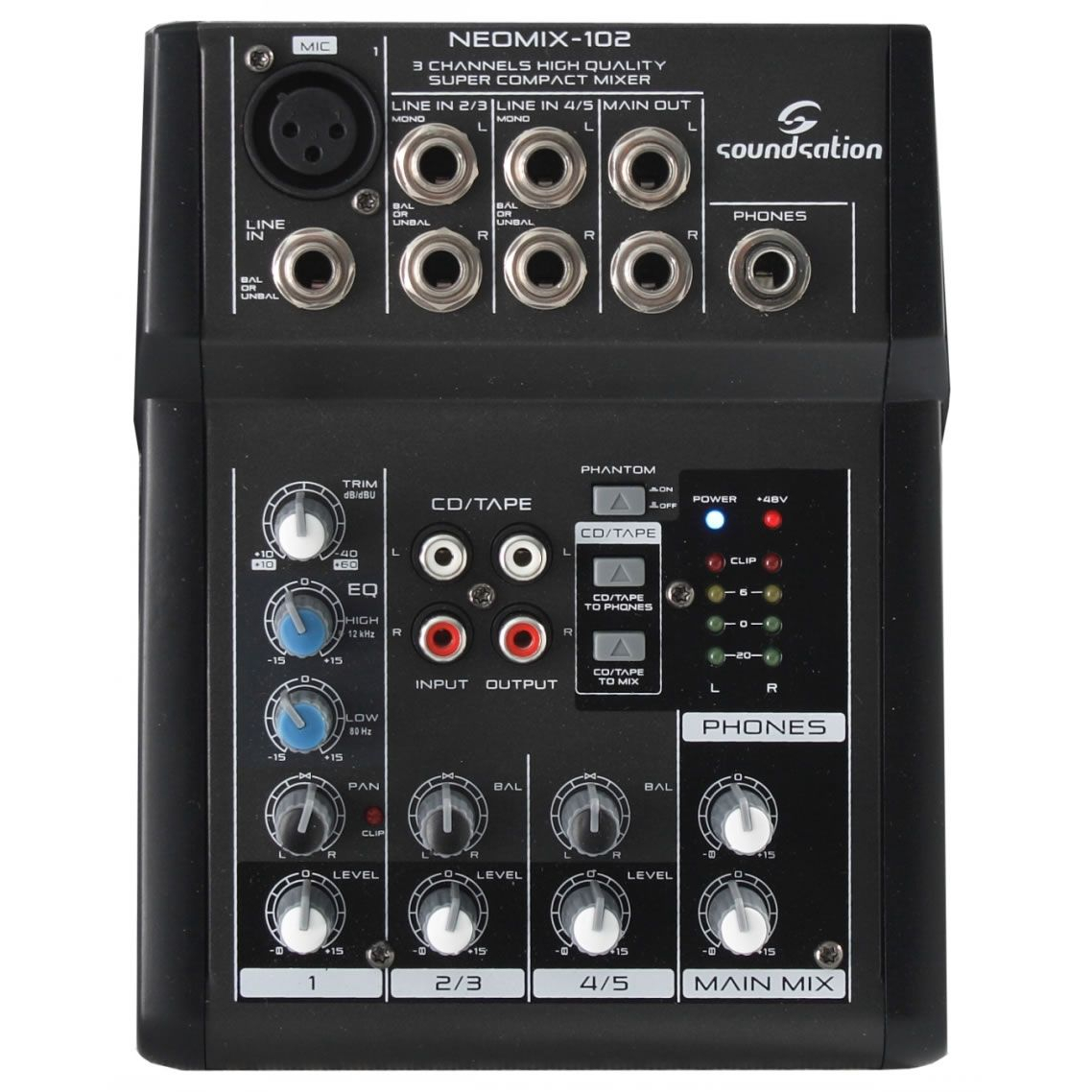 SOUNDSATION NEOMIX 102 MIXER A 3 CANALI