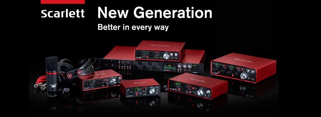 Focusrite Scarlet, schede audio di terza generazione